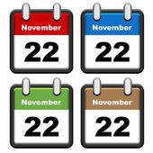 Simple calendars — Stock Vector