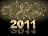 New year vuurwerk — Stockvector