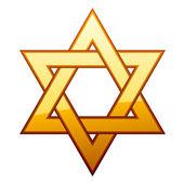 Golden David star — Stock Vector
