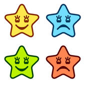 Positive and negative faces of stars — Stock Vector