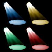 Colored spotlights — Stock Vector