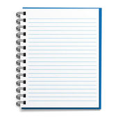 Blank lined notebook — Stock Vector