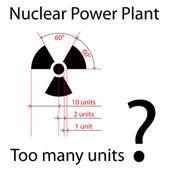 尺寸精确放射符号 — 图库矢量图片