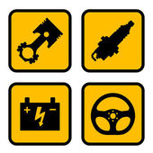 Car part symbols — Stock Vector
