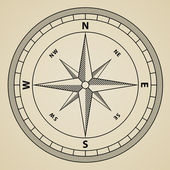 Outline compass vindros — Stockvektor