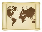 Historical world map — Stock Vector