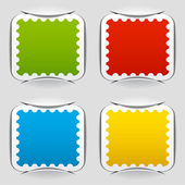 Blank attached postage papers — Stock Vector