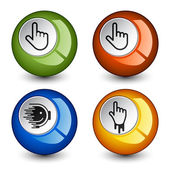 Stylish round glossy buttons — Stock Vector