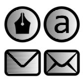 Striped email symbols — Stock Vector