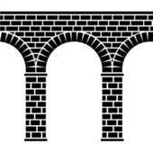 Alte Steinbrücke nahtlose Viadukt-Aquädukt — Stockvektor