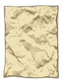 Crumpled yellowed paper — Stok Vektör