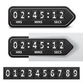 Mechanický časovač odpočítávání černá — Stock vektor