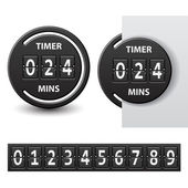 Countdown round mechanical timer — Stok Vektör