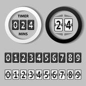 Odpočítávání kolo mechanický časovač — Stock vektor