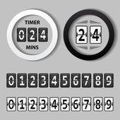 Countdown round mechanical timer — Stock Vector