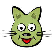 Cartoon smiling face cat — Stock Vector