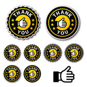 Thank you circle labels — Stock Vector