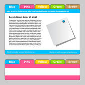 Web template - easy change focus on any tab — Stock Vector