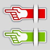 Attaché de pointage main étiquettes — Vecteur