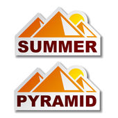 Zomer egypte piramide stickers — Stockvector