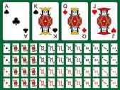 Original playing cards — Stock Vector