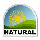 Přírodní krajinu štítek — Stock vektor