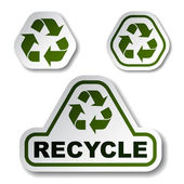 Recycle green arrow stickers — 图库矢量图片