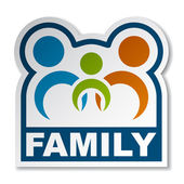 Family joined sticker — Stock Vector