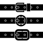 Buckle belt black symbols — Stock Vector