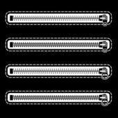 Zipper black symbols — Stock Vector