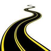 Kronkelende weg — Stockvector