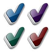 3d 复选标记符号 — 图库矢量图片