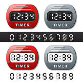Mechanical counter - countdown timer — Vecteur