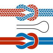 Symboles de noeud de corde d'escalade — Vecteur