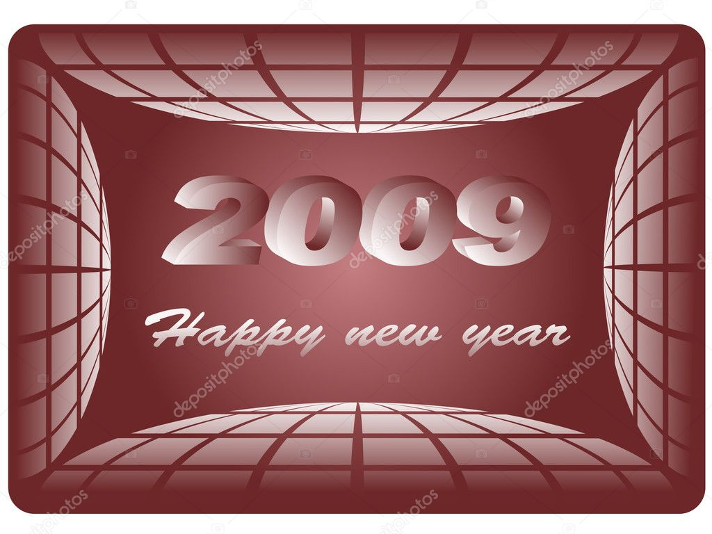 New year 2009 - illustration for the web — Stock Vector #11492123