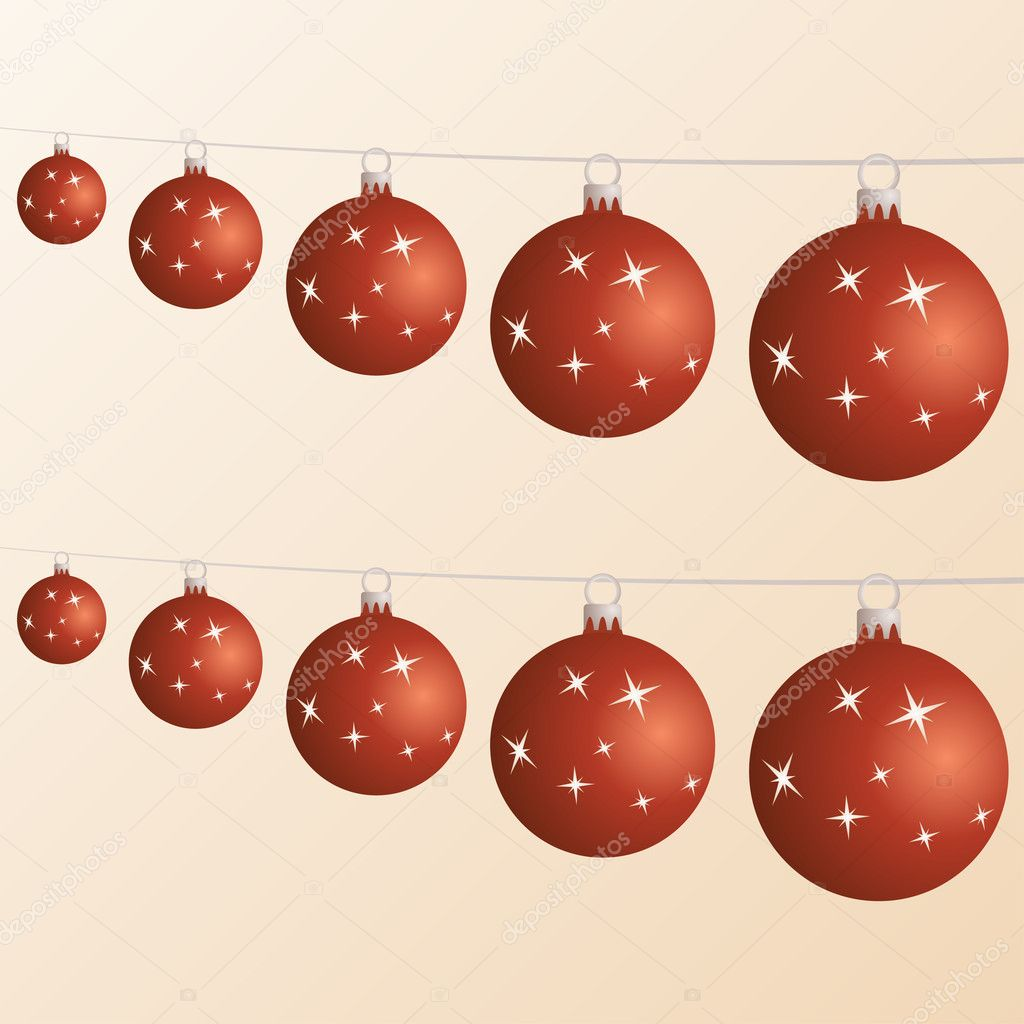 Christmas balls - illustration for the web — Stock Vector #11492522