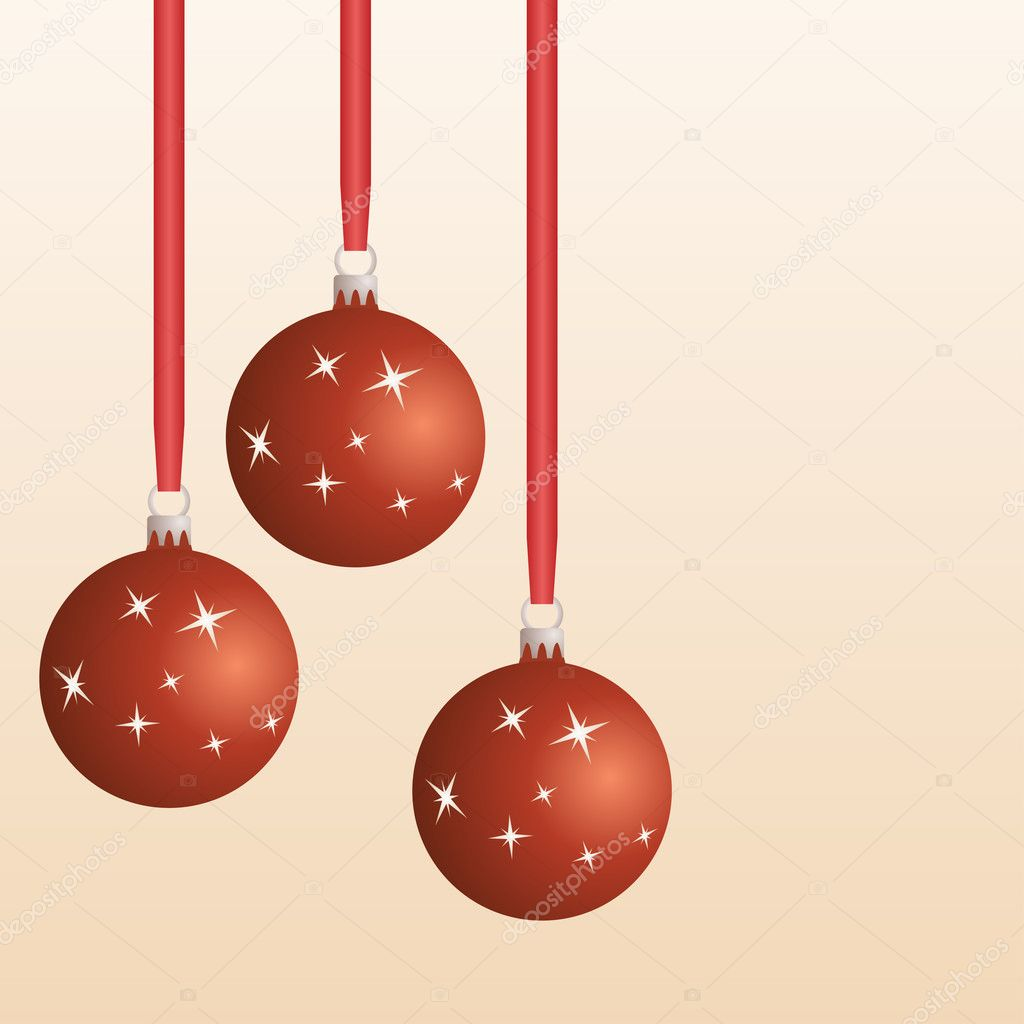 Christmas balls - illustration for the web — Stock Vector #11492524