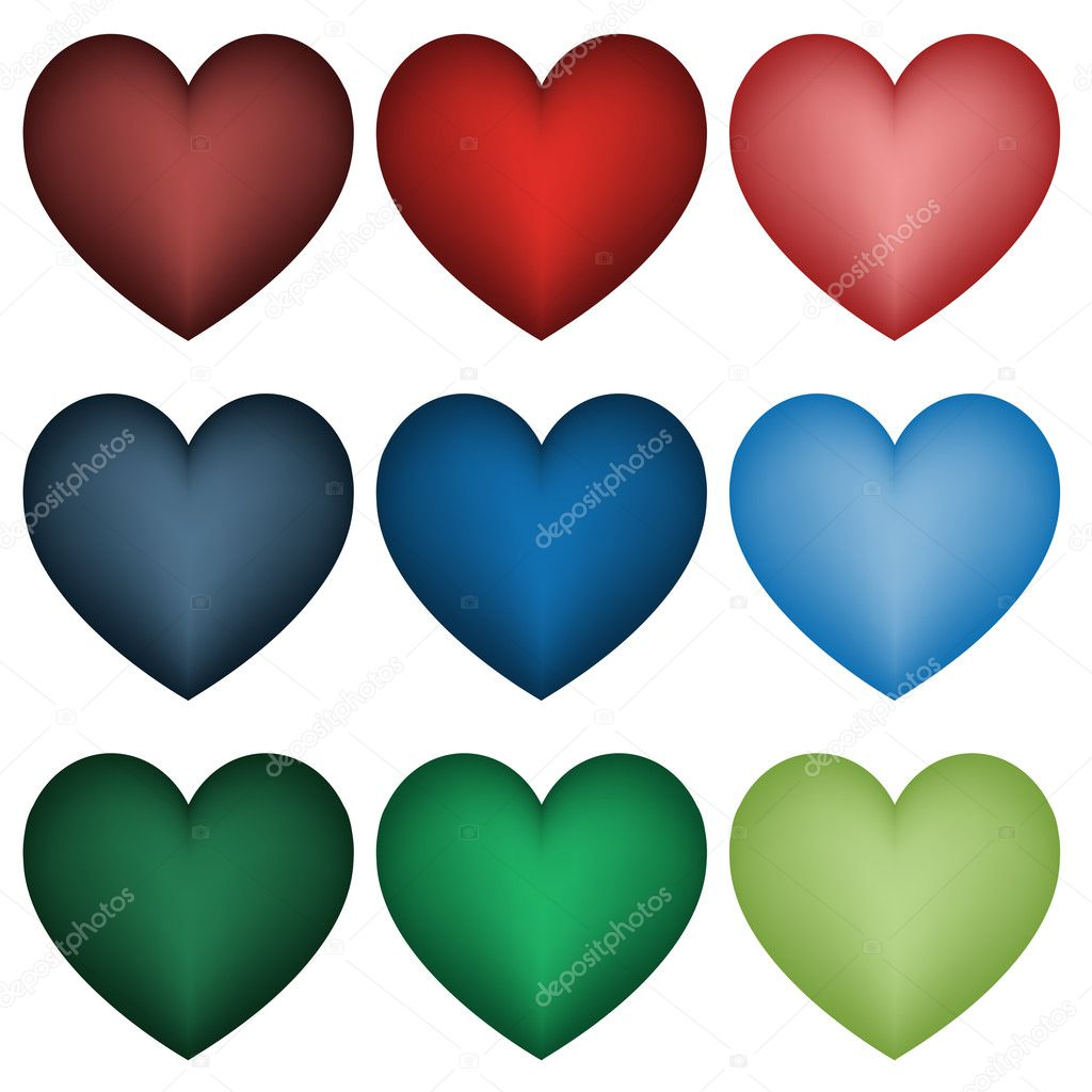 Set of  hearts - illustration for the web  Stock Vector #11492721