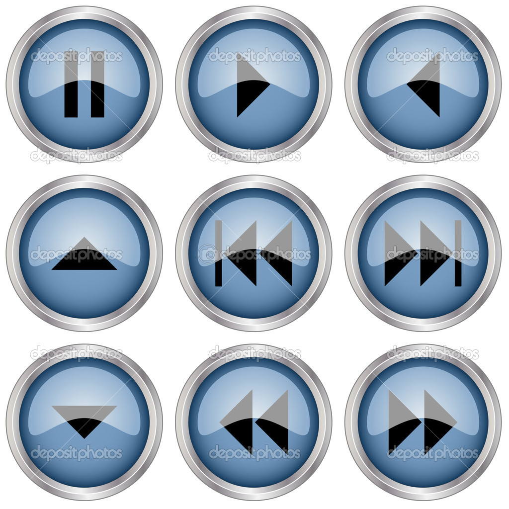 Glossy buttons - illustration for the web — Stock Vector #11492827