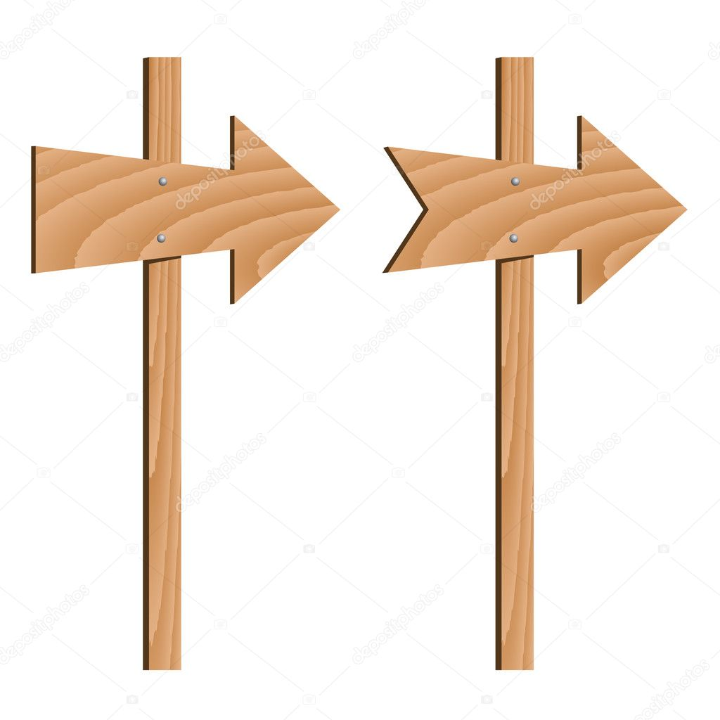 木制方向箭头