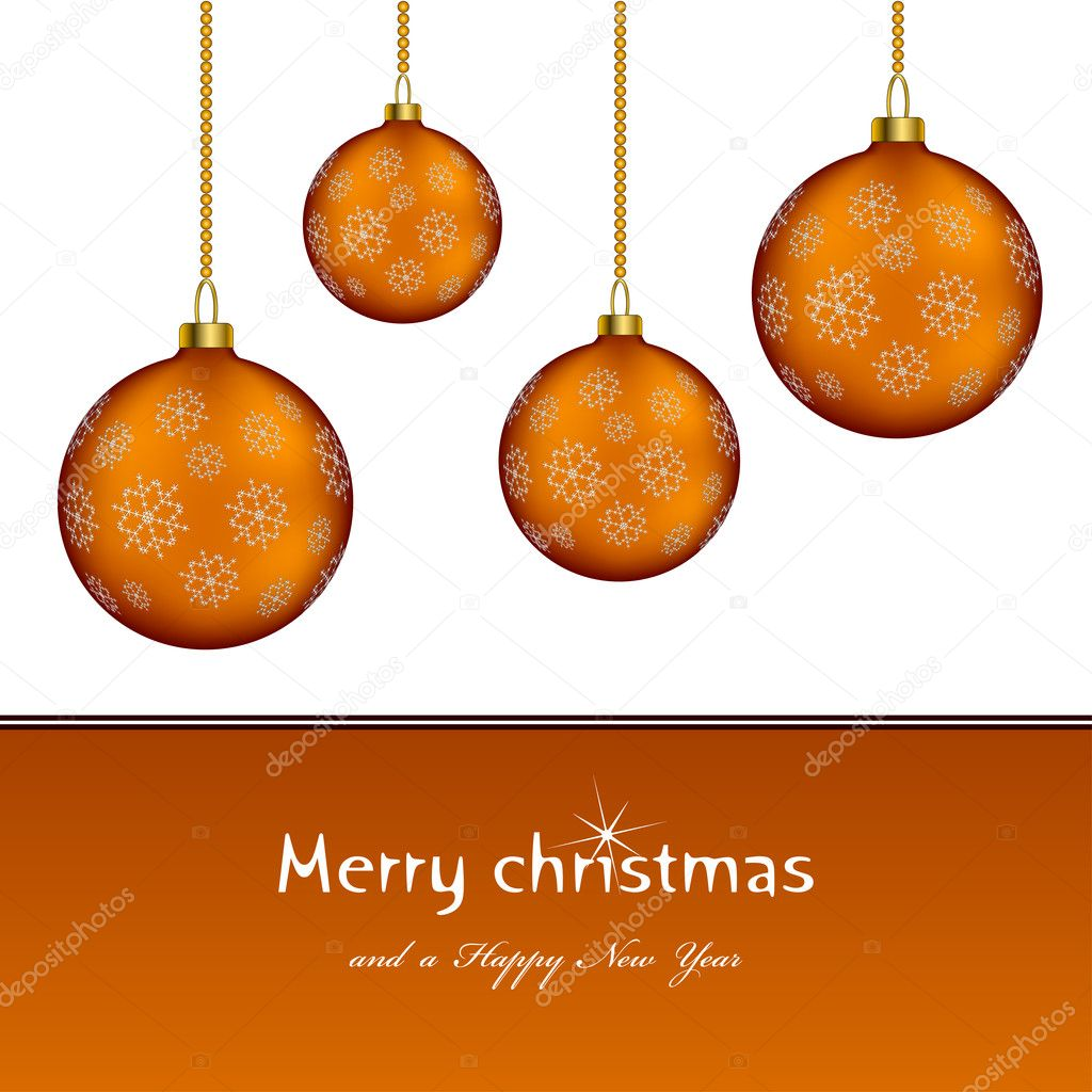 Christmas balls - illustration for the web — Imagen vectorial #11494651