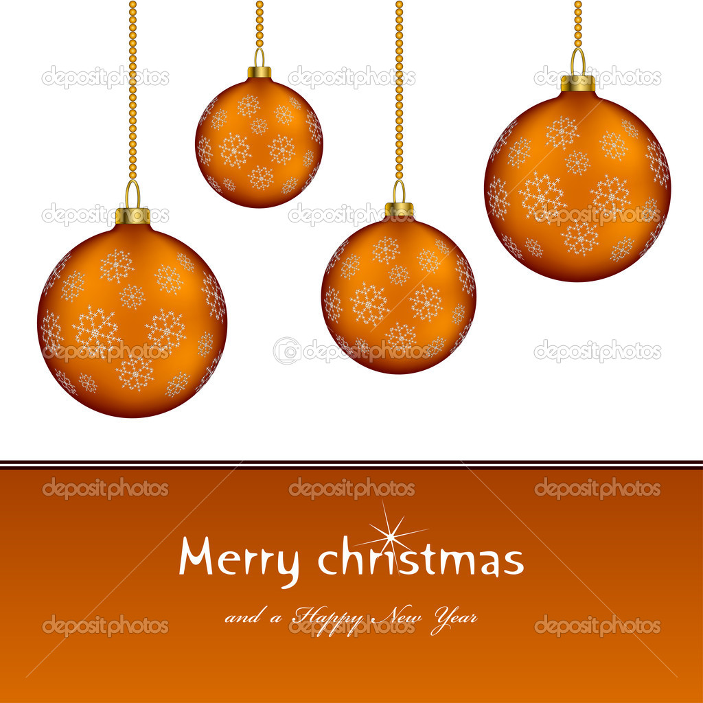 Christmas balls - illustration for the web — Stock vektor #11494651