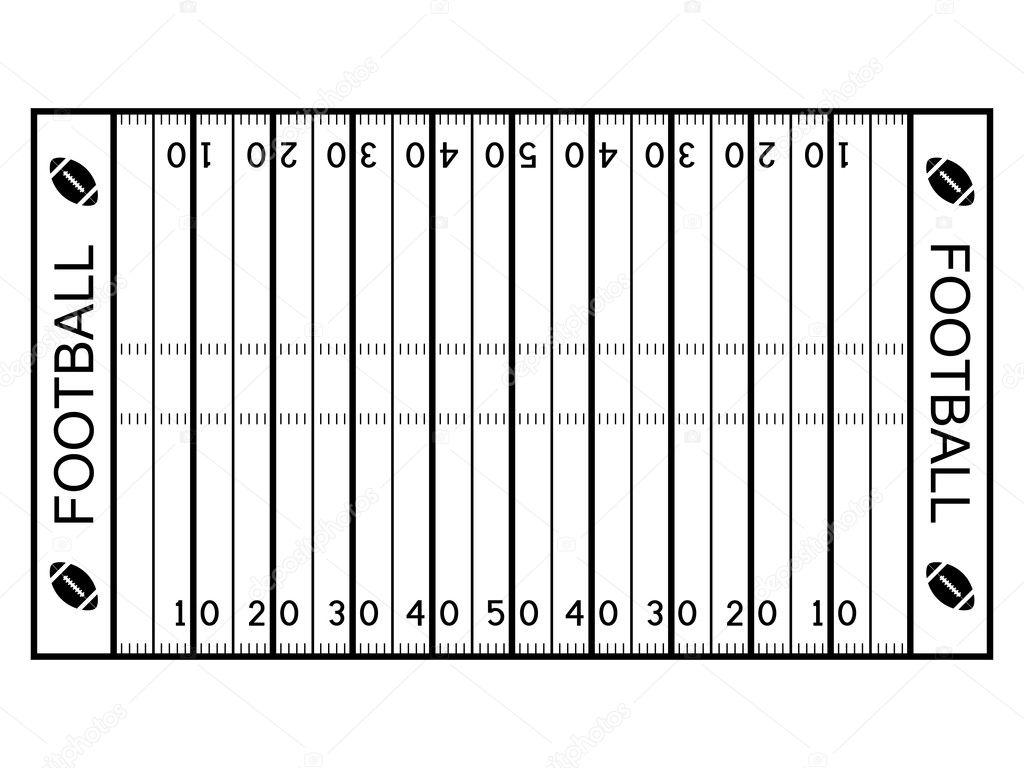 American Football Field Stock Vector C Happyroman 11495102