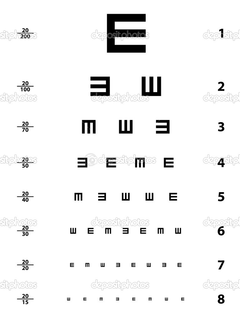 Snellen eye test chart - illustration for the web — Stock Vector #11495216