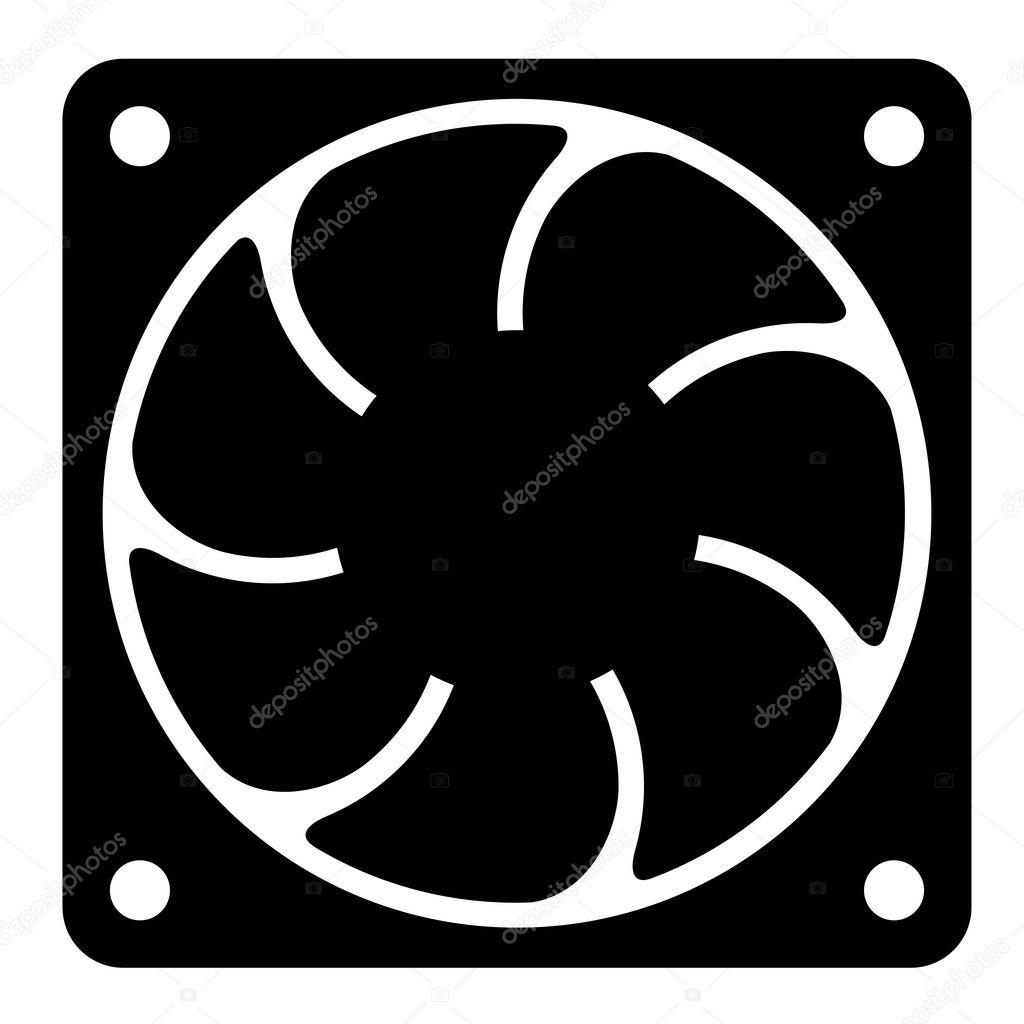 Cooling Fan Clip Art : Computer fan — stock vector