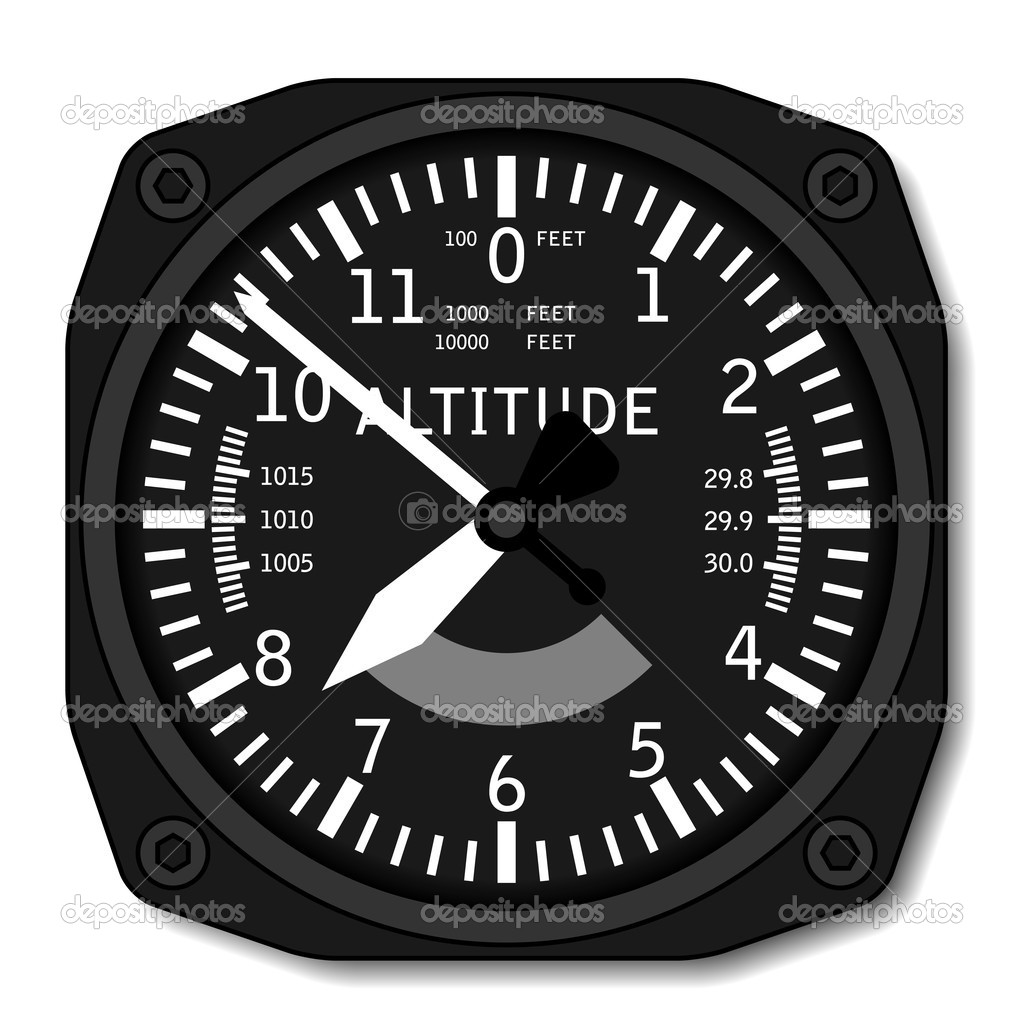 Aviation airplane altimeter - illustration for the web — Stock Vector #11497567