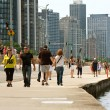 Stock Photo: Enjoying Being Active Along Chicago Shoreline