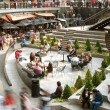 Shoppers Motion Blur In Plaza On Michigan Avenue In Chicago - Stock Photo