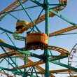 Stock Photo: Enjoy Riding Kiddie Roller Coaster At County Fair