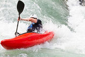 Kayak in white water — Foto de Stock